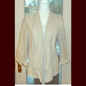 Lane Bryant sz 18 linen tan blazer jacket